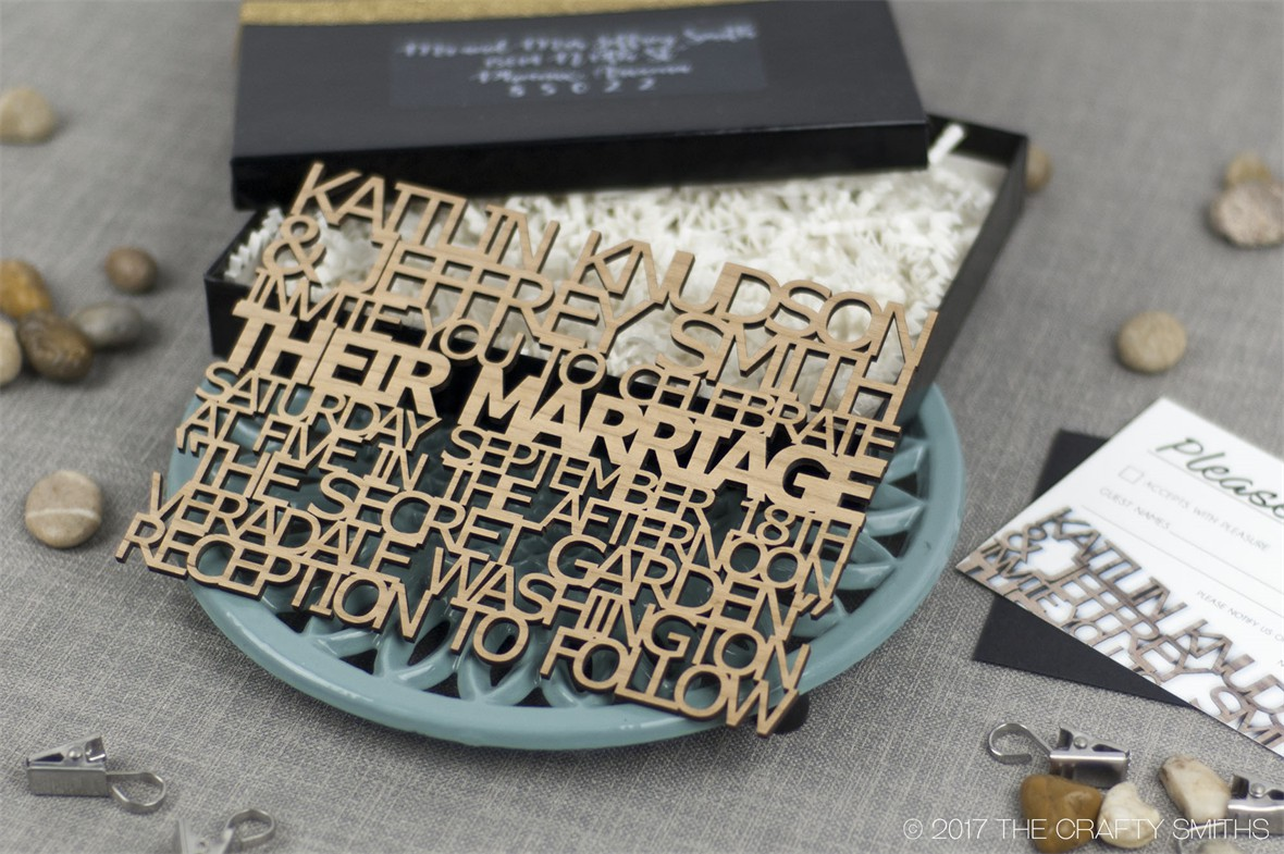 Weddings and Events - Invitation Suites - FreeCut™ - The Crafty Smiths